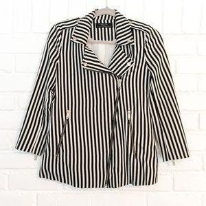 Zara Trafaluc Striped Blazer Jacket Size XS
